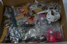 Box of new watches, rings etc