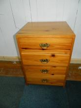 Pine good quality small 4 drawer bedside cabinet L:45 D:45 H:65 cm approx