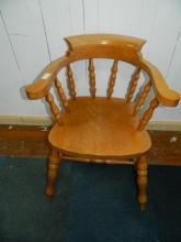 Solid pine captains style chair