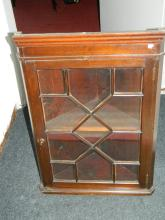 Glass fronted corner cabinet [58x34x80]cm