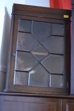 Glass fronted corner cabinet [52x30x71]cm