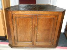 Oak corner cabinet [100x33x82]cm