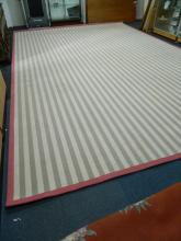 HUGE good quality modern striped rug (12x10)ft approx