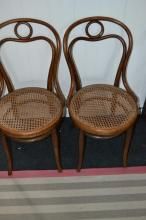 Two bentwood chairs by Thonet