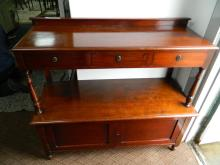 Victorian mahogany dresser over cupboard