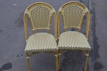 Set of 8 resin dining chairs, excellent quality