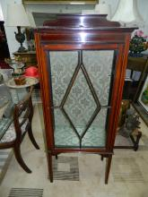 Slimline display cabinet [H:5 W:2 D:1]ft approx