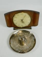 Mexican silver sombrero ornament and Smiths mantle clock (2)