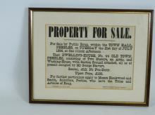 Framed Blackwood and Smith property advert