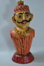 Indian paper mache diwali moquette figure