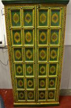 Hand painted Rhajistan cabinet