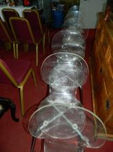 Six perspex dining chairs