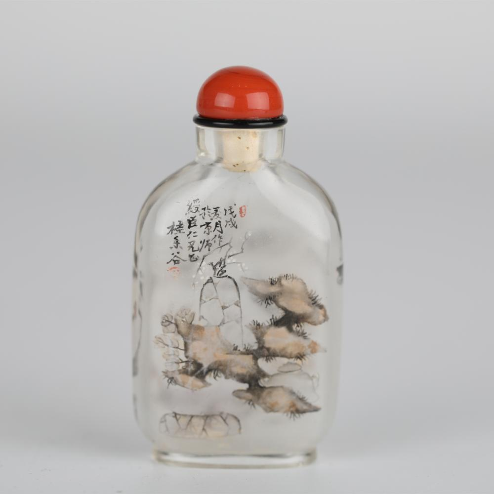 18th,Glass painted snuff bottle