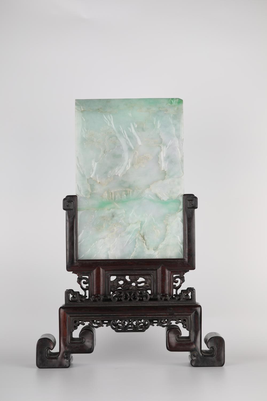 19th,Emerald Landscape Screen Decoration