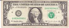 BEP band of 100 2006 Turned Digit error note UNC