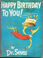 Happy Birthday to You, First Edition Dr. Seuss