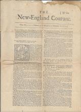 1856 reprint of Franklin's New-England Courant, 1723