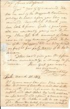 Early Boston mayor writes Fire and Brimstone letter, 1813 stampless cover