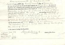 1833 deposition regarding marine lawsuit signed by Boston and Quincy Market namesake Josiah Quincy