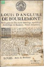 1691 French broadside signed Louis