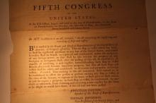Rare 1797 Congressional Act, signed in type by John Adams