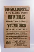 Civil War 100th anniversary recruitment poster, Invincibles