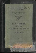 1906 York and Kittery Maine town registers