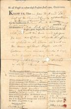 1774 New Haven Connecticut deed, King George 3rd