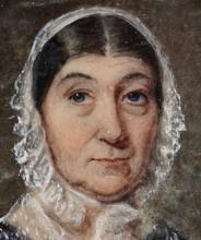 Circa 1820s portrait miniature of a lady