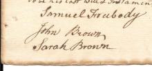 John Brown signs rare Roman Catholic last will and testament, 1767
