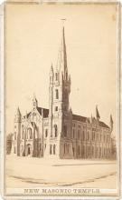 1868 CDV of the New Masonic Temple in Philadelphia
