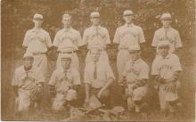Real photo postcard of the Limerick, Maine baseball team