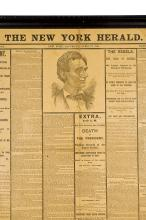 New York Herald, Abraham Lincoln assassination, early reprint