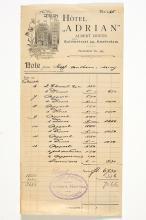 Circa 1905  travel receipts