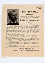 1897 reward poster for conspiracy