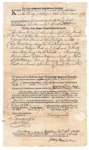 Connecticut slave owner signs a deed
