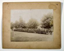 Pair of large mount Spanish American War photographs