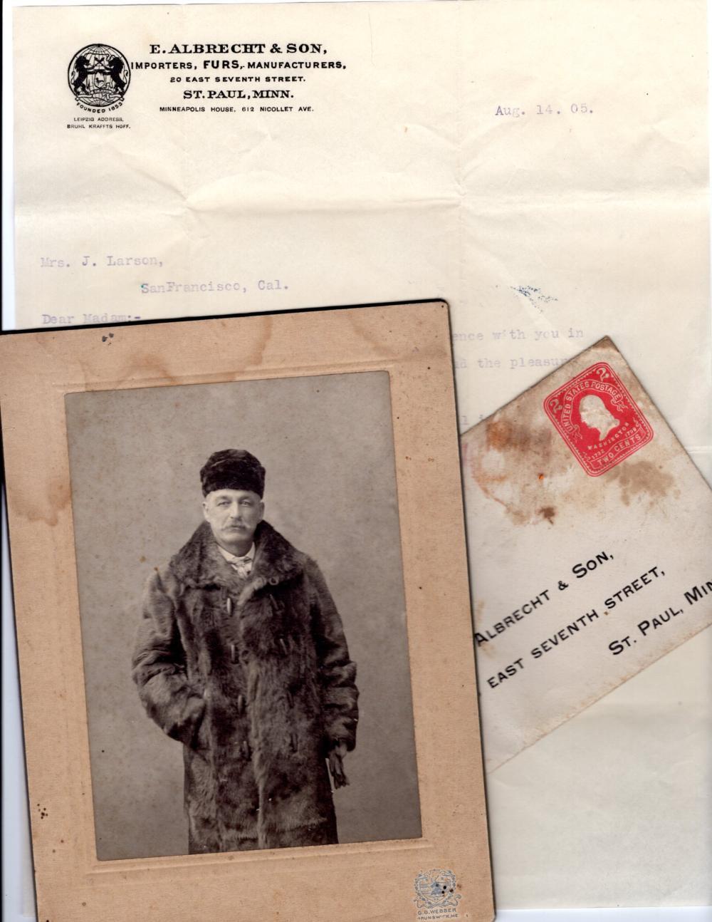 Man in a fur coat, 1905
