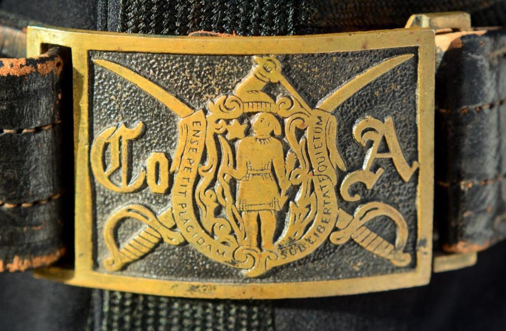 Massachusetts Company A belt buckle