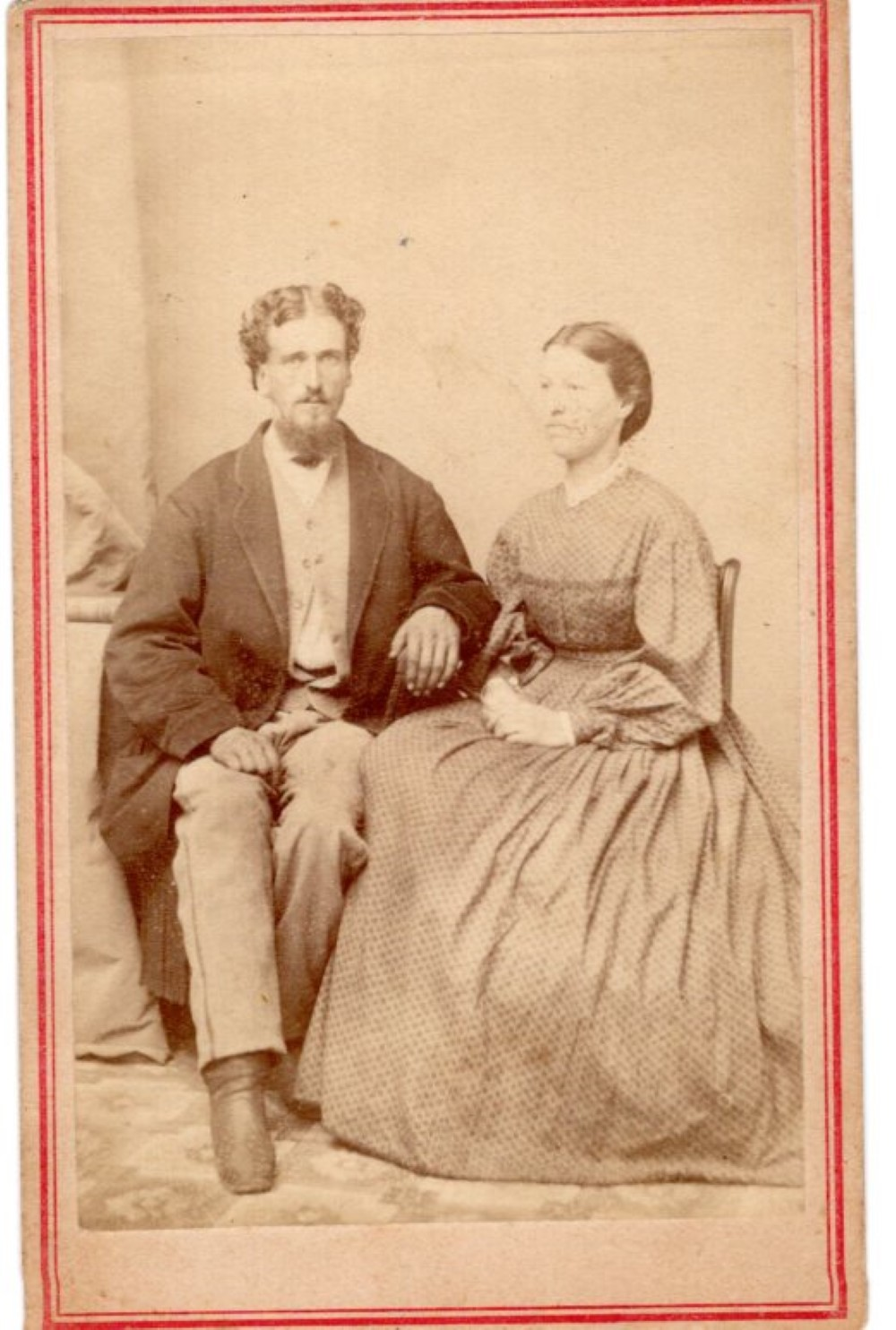 Unidentified Civil War soldier and wife