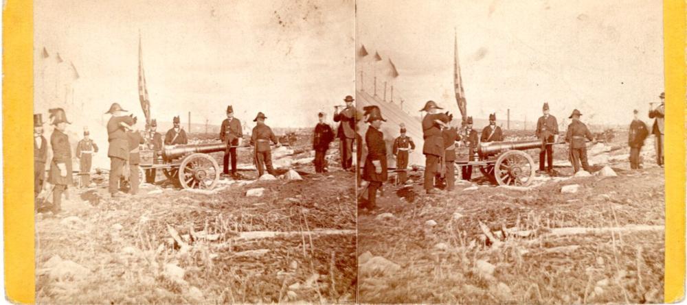 Civil War era canon fire