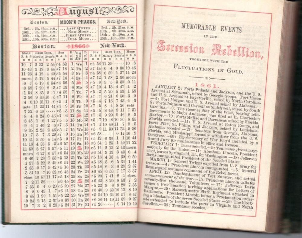 1866 diary recalls Secession Rebellion