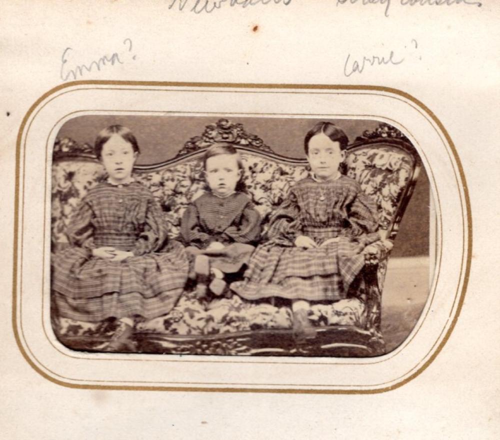 CDV album of the Derby family