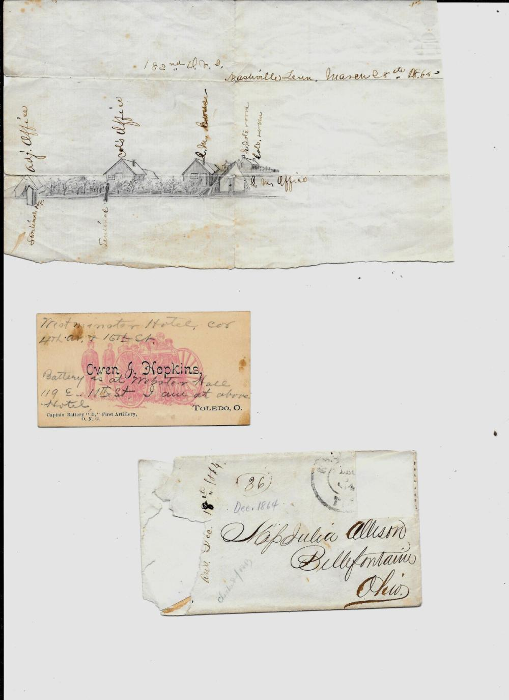 Pair of documents of the 182nd Ohio National Guard