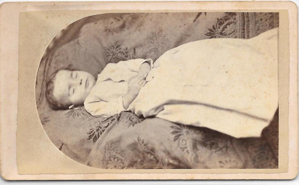 CDV of a post mortem child, 1870s