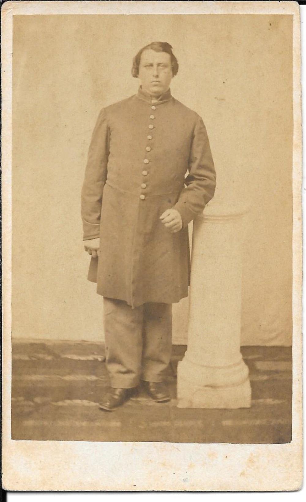 CDV, Civil War soldier Joseph Pike