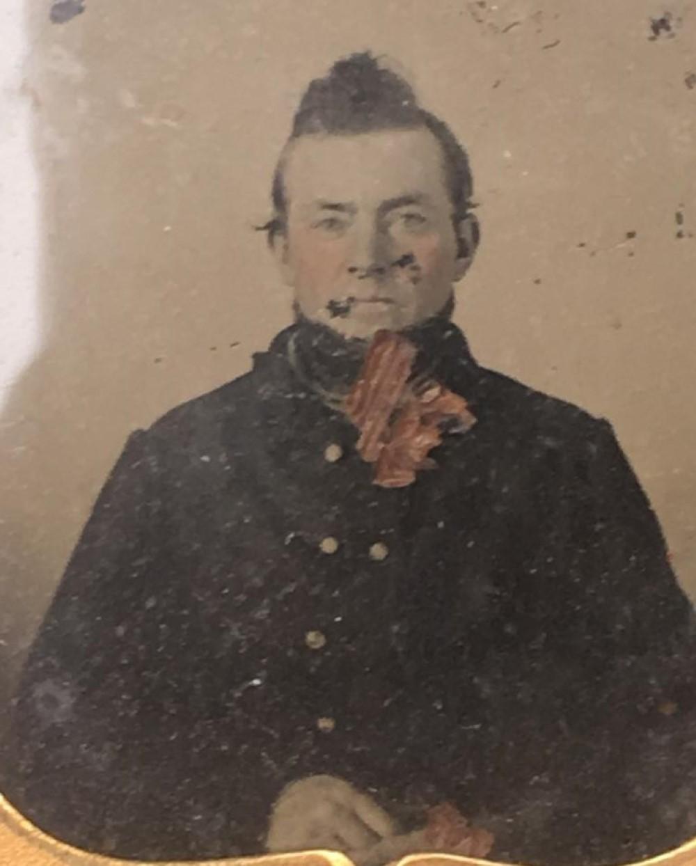 Confederate cavalry ambrotype