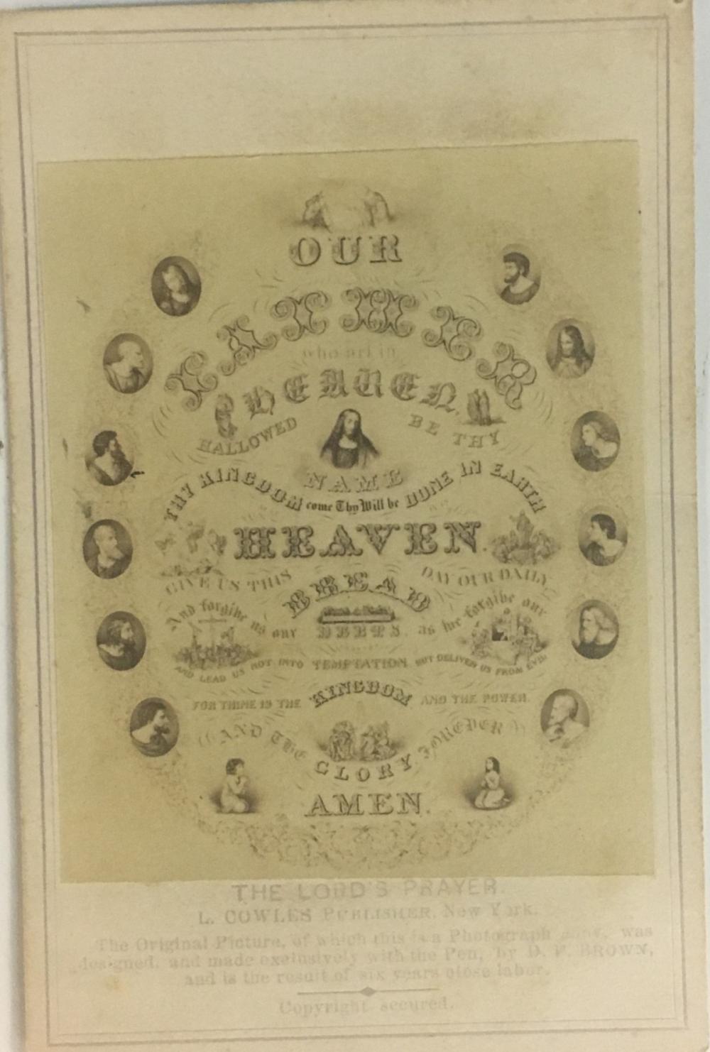 CDV of the Lord's Prayer, 1860s