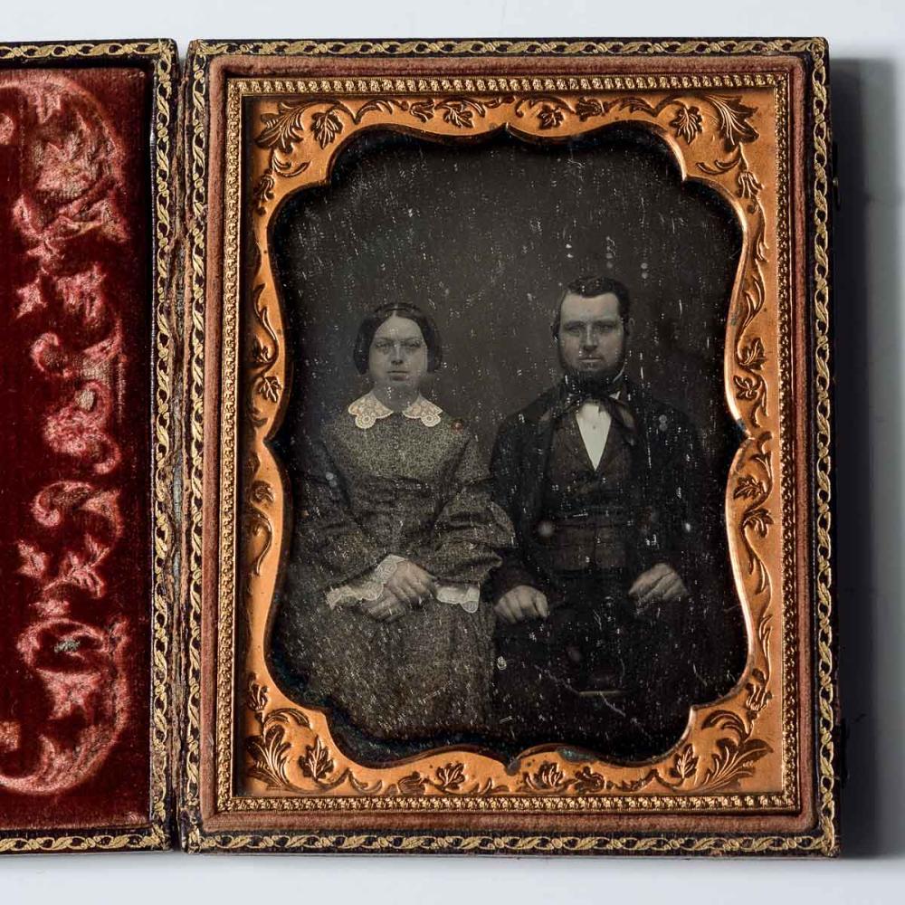 Daguerreotype of a handsome couple