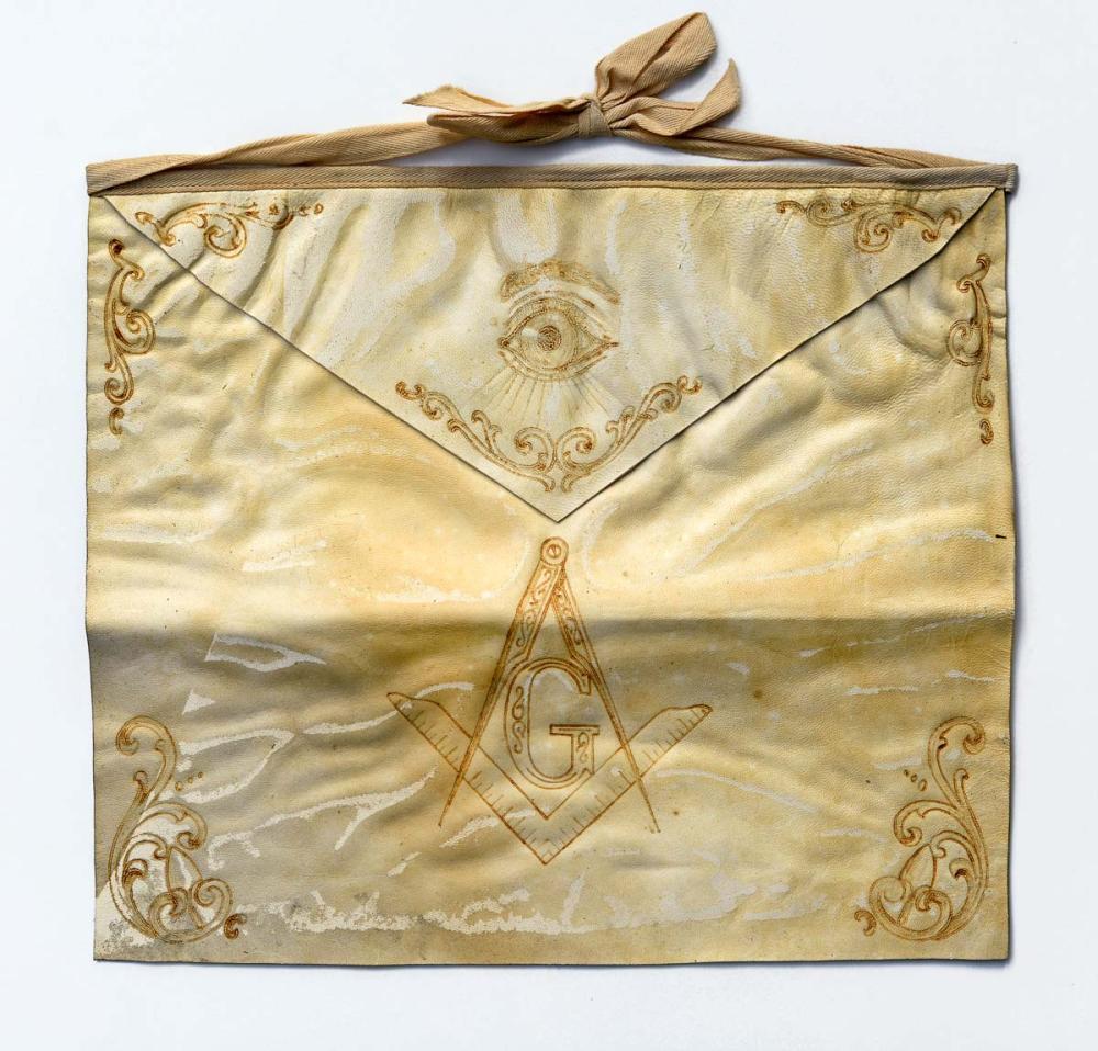 19th century Masonic apron